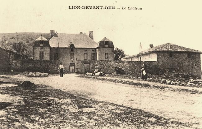 Lion devant dun meuse le chateau cpa