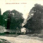 Lion devant dun meuse le chateau en 1915 cpa