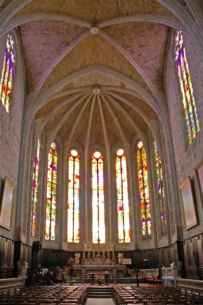 Lodève (Hérault) La cathédrale Saint Fulcran
