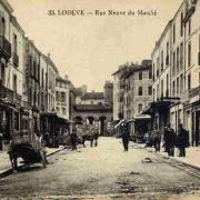 Lodève (Hérault) La rue du Marché CPA