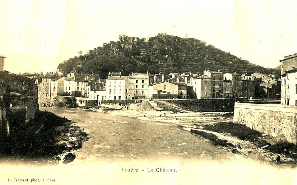 Lodève (Hérault) Le château primitif CPA