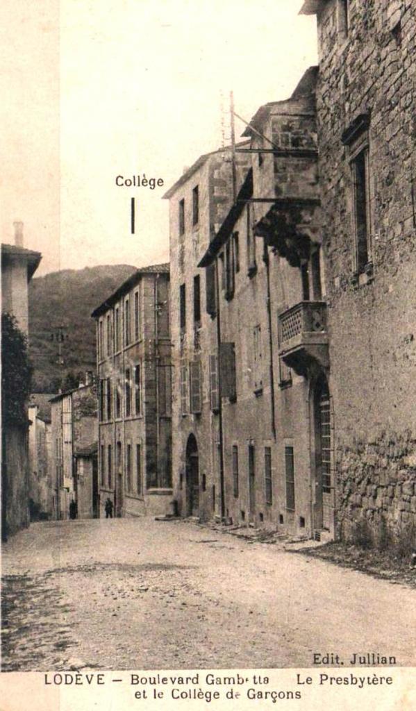 Lodève (Hérault) Le collège des garçons CPA