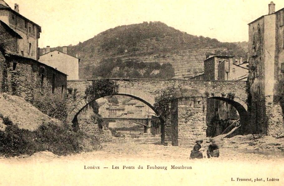 Lodève (Hérault) Le faubourg Montbrun, les ponts CPA