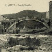 Lodève (Hérault) Le pont de Montifort CPA