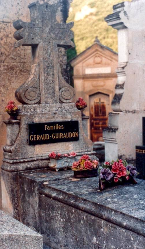 Cimetière de Lodève : Tombe de Fulcran  dans le caveau Guiraudon