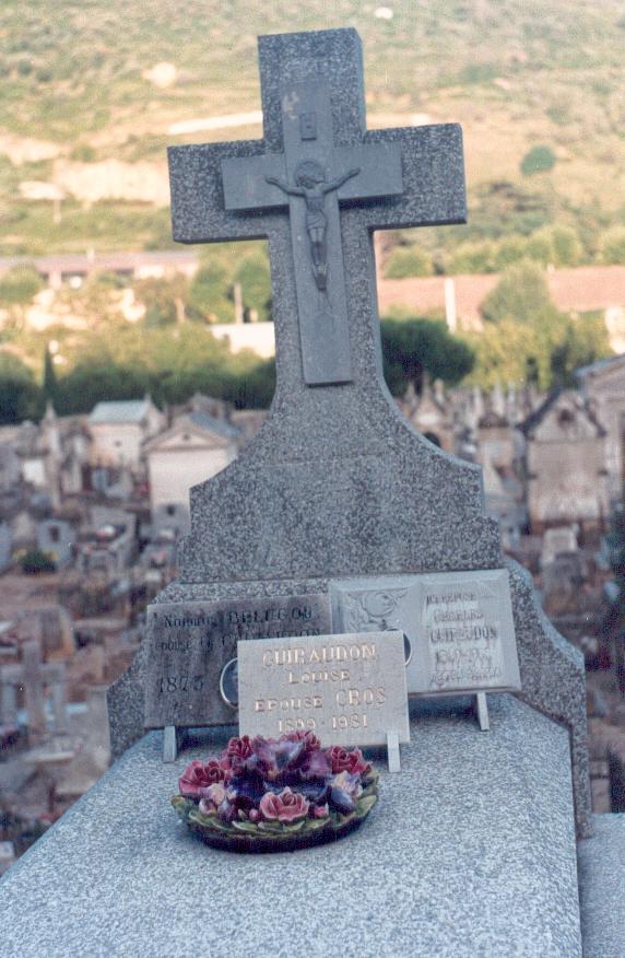 Cimetière de Lodève, la tombe de la famille Guiraudon