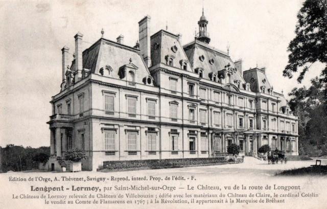 Longpont sur orge essonne le chateau de lormoy cpa