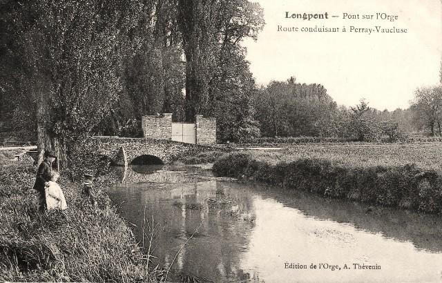 Longpont sur orge essonne le pont cpa