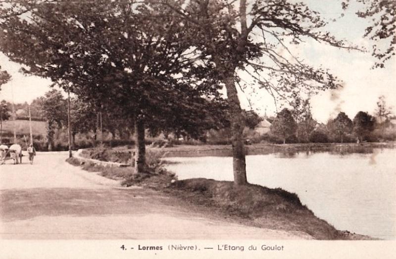 Lormes (Nièvre) L'étang du Goulot CPA