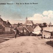 Lormes (Nièvre) La route de Brassy CPA