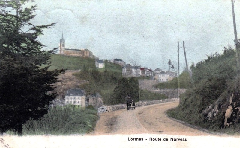 Lormes (Nièvre) La route de Narvau CPA