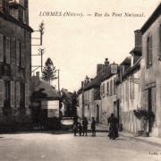 Lormes (Nièvre) La rue du Pont National CPA