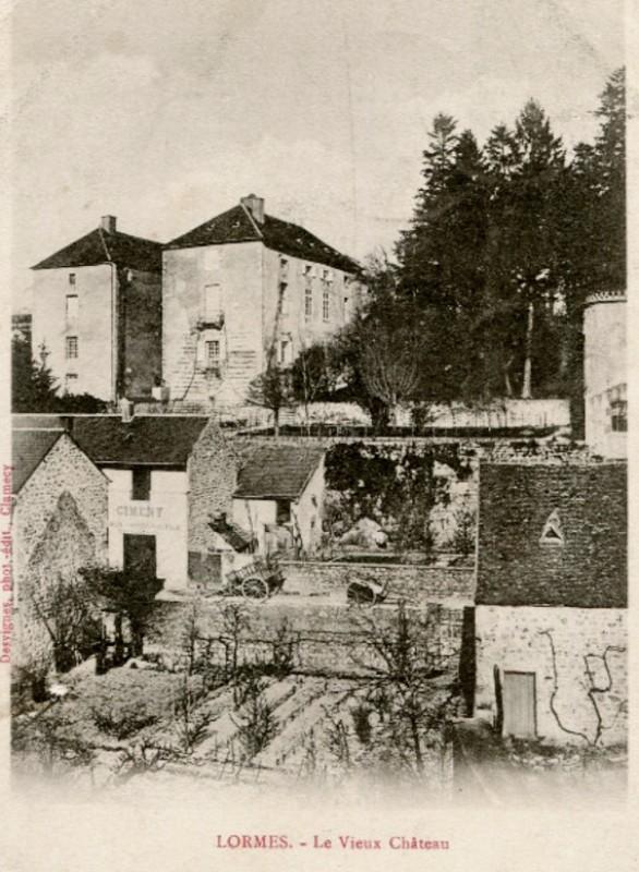 Lormes (Nièvre) Le vieux château CPA