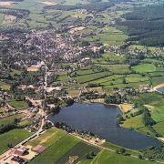 Lormes (Nièvre) Vue aérienne