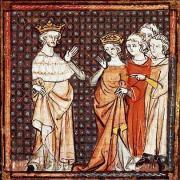 Louis II et Adélaïde de Paris, enluminure