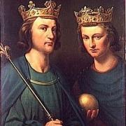 Louis III et Carloman, ses fils de sa première épouse, Ansgarde de Bourgogne