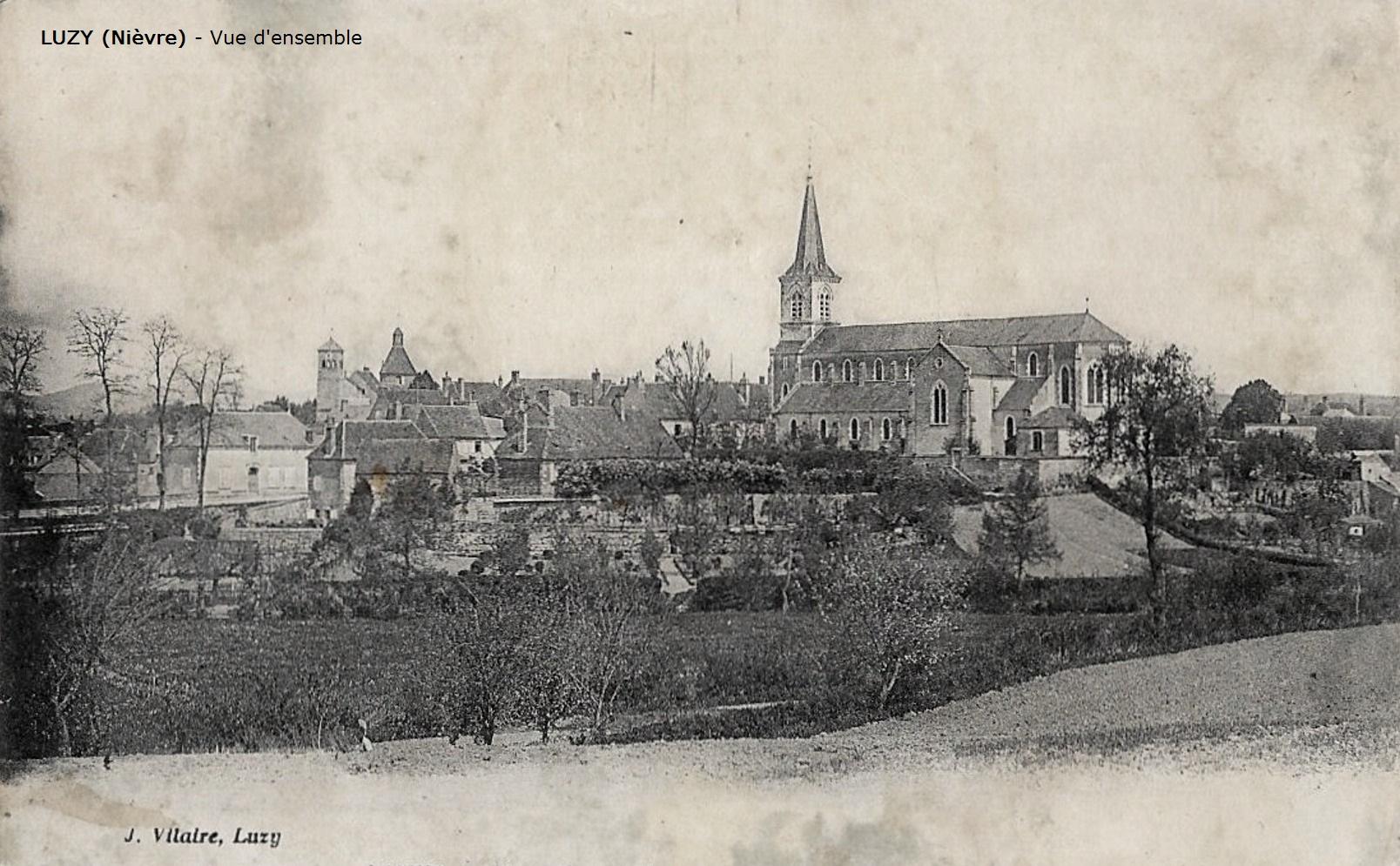 Luzy (Nièvre) Vue générale CPA