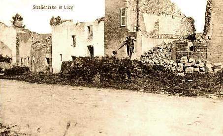 Luzy-Saint-Martin (Meuse) Les ruines 1914-1918 CPA