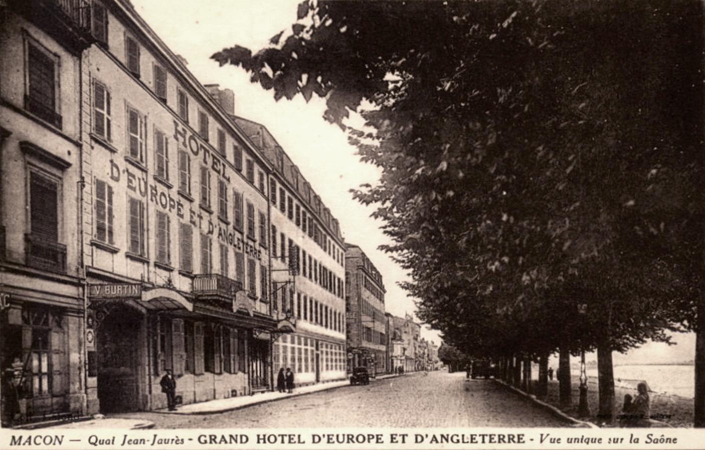 Mâcon (71) Hôtel d'Europe et d'Angleterre CPA