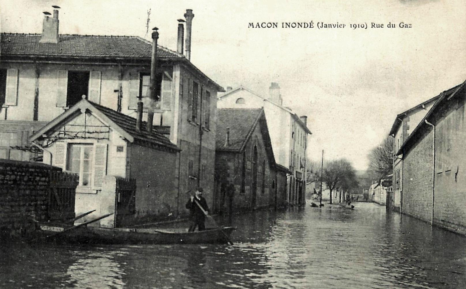Mâcon (71) Inondations 1910 CPA