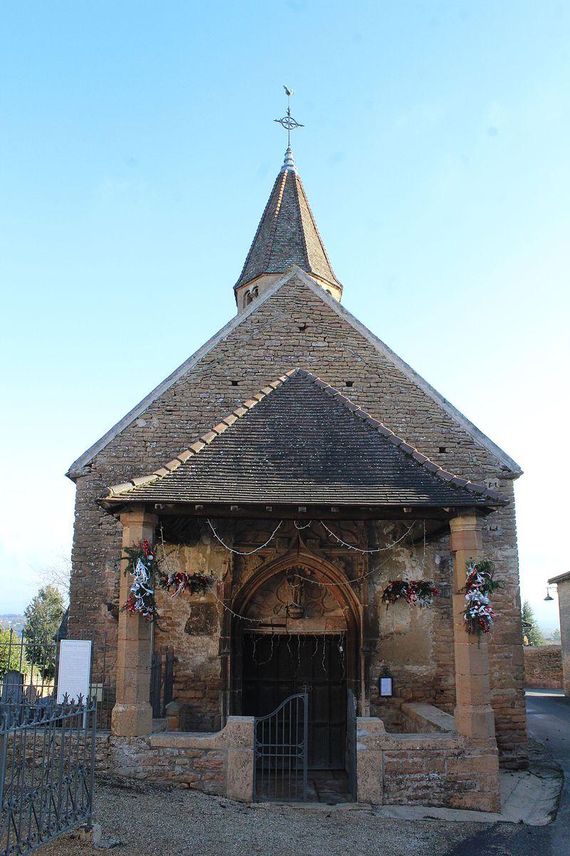 Mâcon (71) Loché, église Saint Jean l'Evangéliste