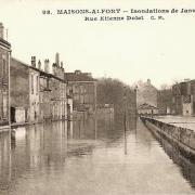 Maisons alfort val de marne crue de la seine 1910 cpa