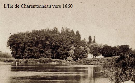 Maisons alfort val de marne l ile de charentonneau vers 1860