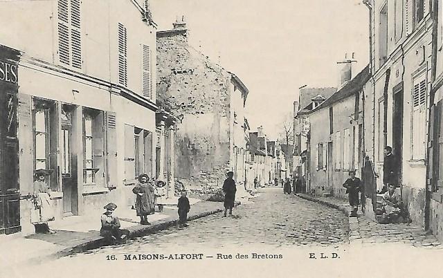 Maisons alfort val de marne la rue des bretons cpa