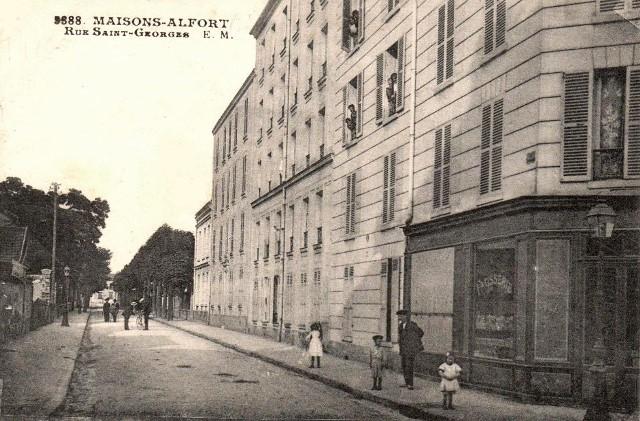 Maisons alfort val de marne la rue saint georges cpa