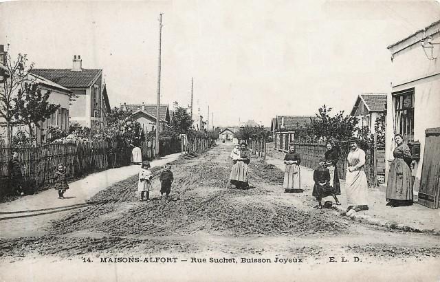 Maisons alfort val de marne la rue suchet en 1910 cpa