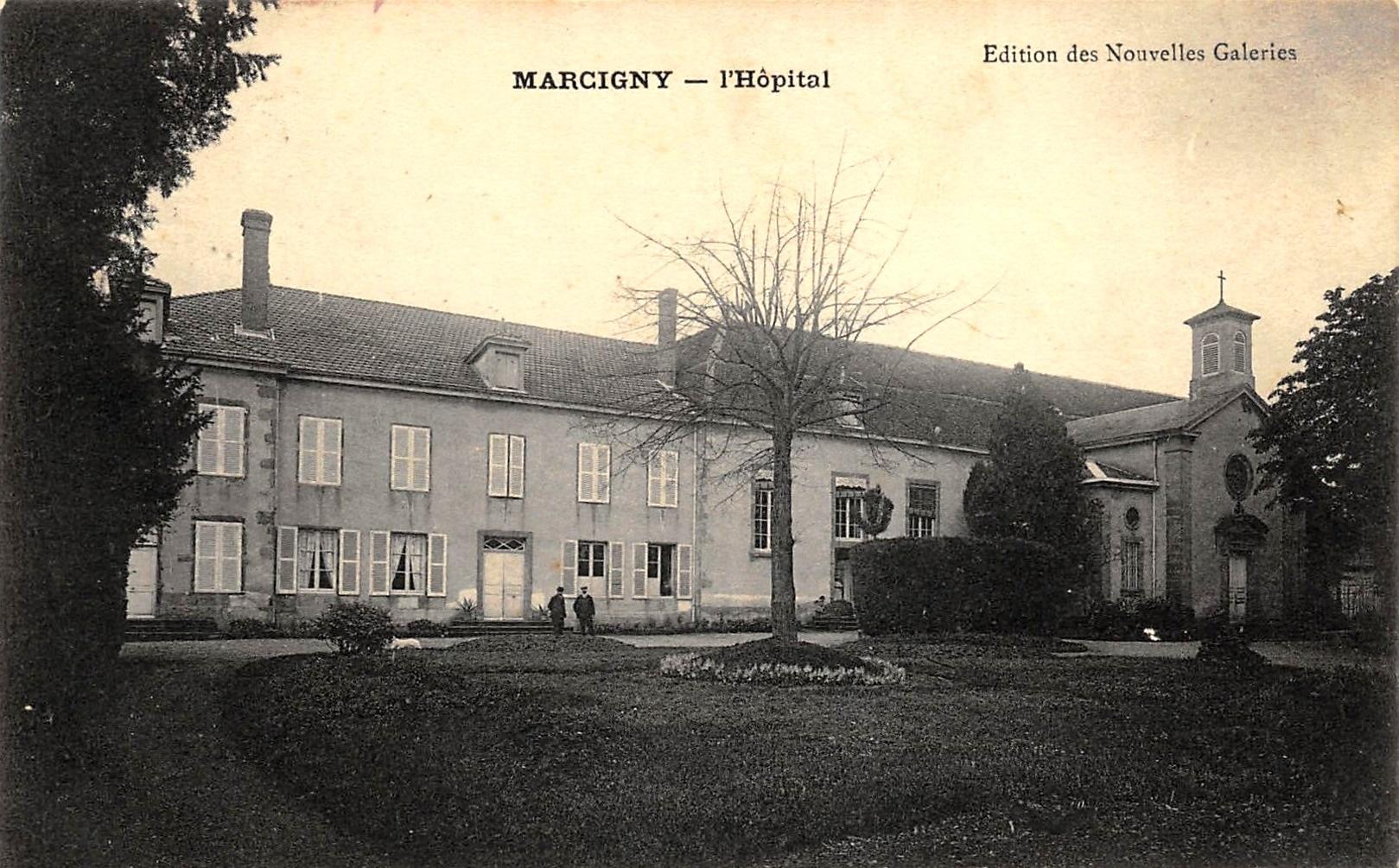 Marcigny (71) Hôpital CPA
