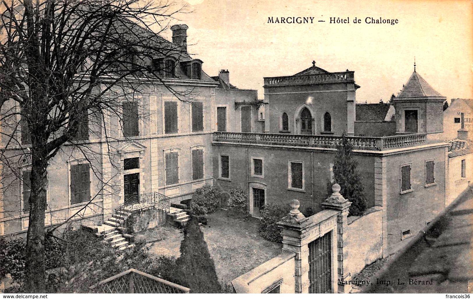Marcigny (71) Hôtel de Challonge CPA