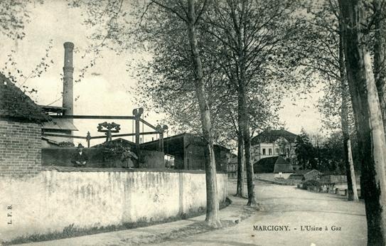 Marcigny (71) Usine à gaz CPA