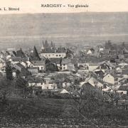 Marcigny (71) Vue générale CPA
