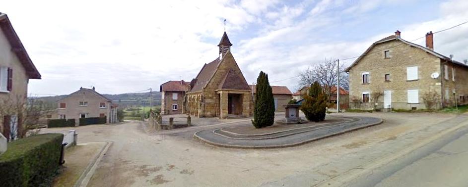 Martincourt-sur-Meuse (Meuse) L'église et la place