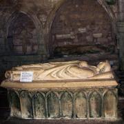 Marville (Meuse) Le gisant du curé Hues +1345