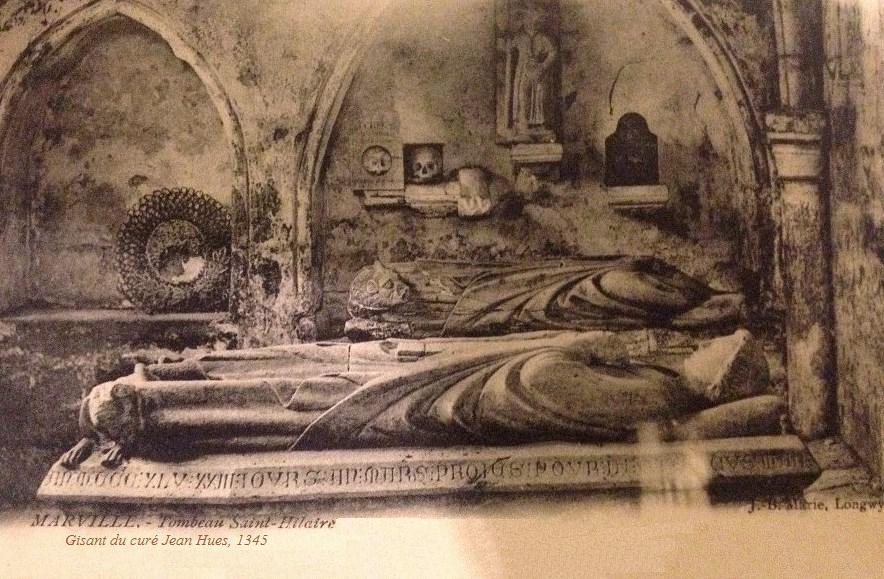 Marville (Meuse) Le gisant du curé Huès +1345 CPA