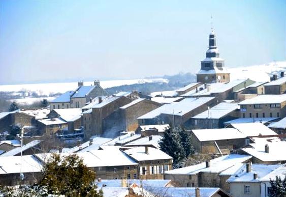 Marville (Meuse) Vue générale en hiver