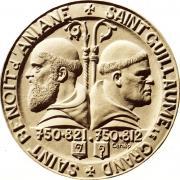Médaillon Saint Guillaume et Saint Benoît