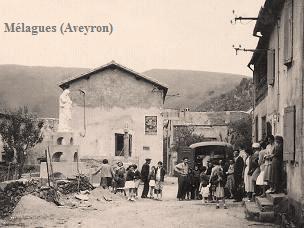 Mélagues (Aveyron) CPA