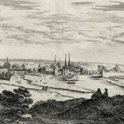 Melun seine et marne gravure de 1650