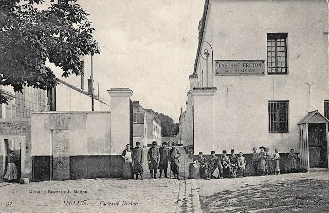 Melun seine et marne la caserne breton cpa