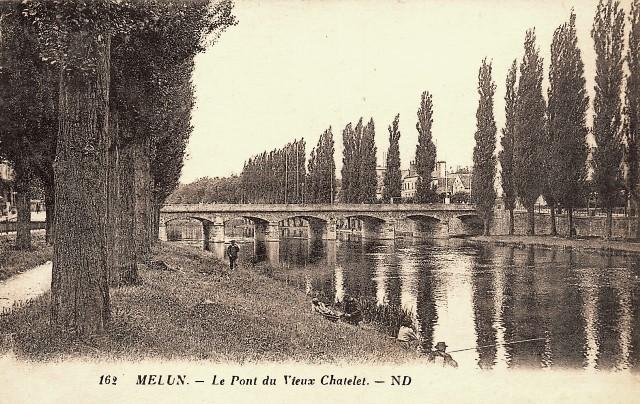 Melun seine et marne le pont du vieux chatelet ou pont aux fruits cpa