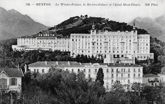 Menton 06 l hotel du mont fleuri et les winter et riviera palace cpa