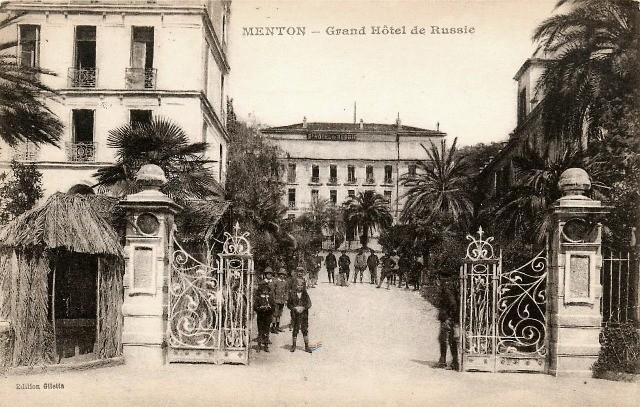 Menton 06 le grand hotel de russie cpa