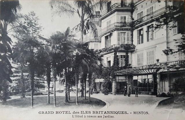 Menton 06 le grand hotel des iles britanniques cpa
