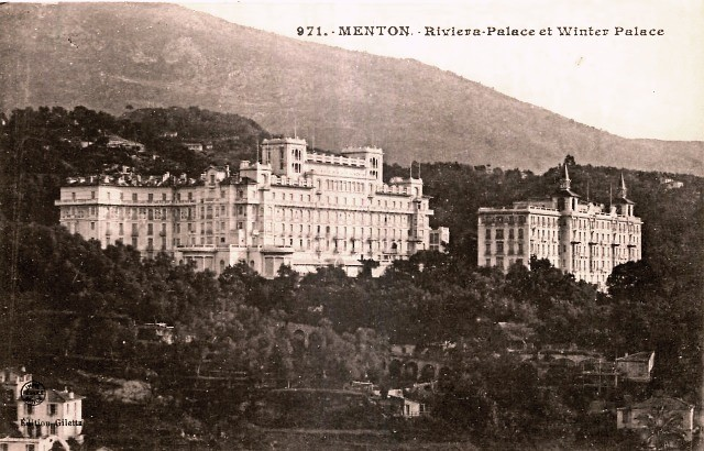 Menton 06 le riviera et le winter palaces cpa