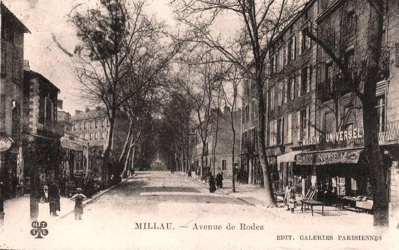 Millau (Aveyron) CPA avenue de rodez
