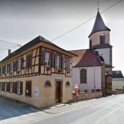 Mittelschaeffolsheim 67 la mairie et l eglise