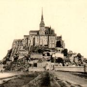 Mont saint michel manche le mont vers 1930 cpa